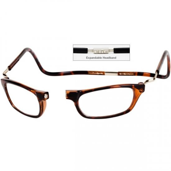 84a38f38c8c CliC +1.25 Diopter Magnetic Reading Glasses  Expandable - Tortoise