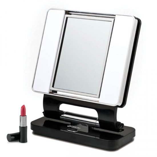 Ott Lite Natural 5X 1X Lighted Magnifying Makeup Mirror  Black. Mirrors   Magnifying Choices  Helping People See  Better