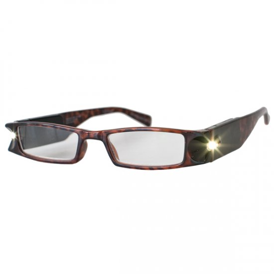 8af84155f9a9 +5.0 Diopter Eschenbach LightSpecs LED Lighted Reading Glasses - Tortise -  Lindy
