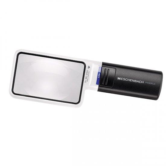 Eschenbach 3.5X Mobilux LED Illuminated Pocket Magnifier Rectangle Lens